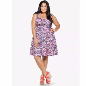 Torrid Tribal Print Skater Dress Size 3X